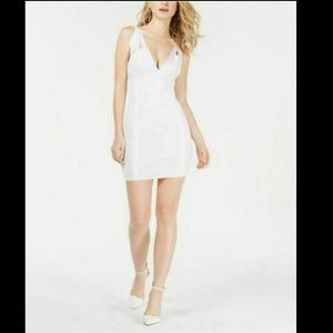Guess White Mirage Strappy Cutout Dress Small NWT